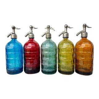 Vintage San Bernardo Argentina Seltzer Bottles - Set of 5 For Sale