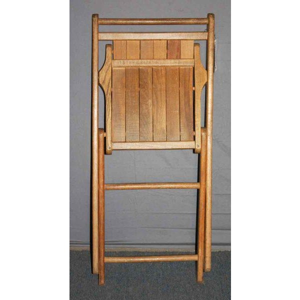 Vintage Maple Folding Chair - Image 3 of 4