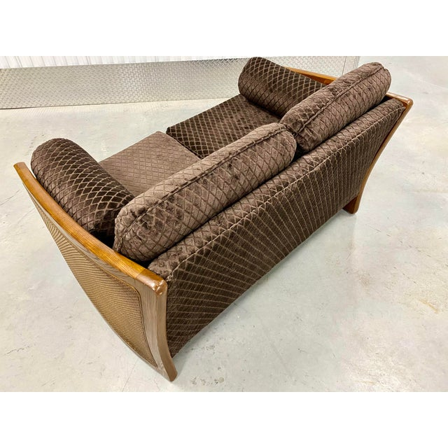 Mid Century Modern Reupholstered Loveseat For Sale - Image 4 of 10