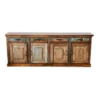 Asian Antique Handmade Sideboard For Sale