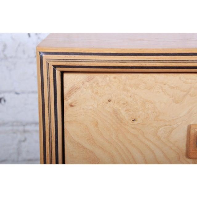 Milo Baughman Style Burl Wood Dresser or Credenza by Henredon For Sale - Image 10 of 13