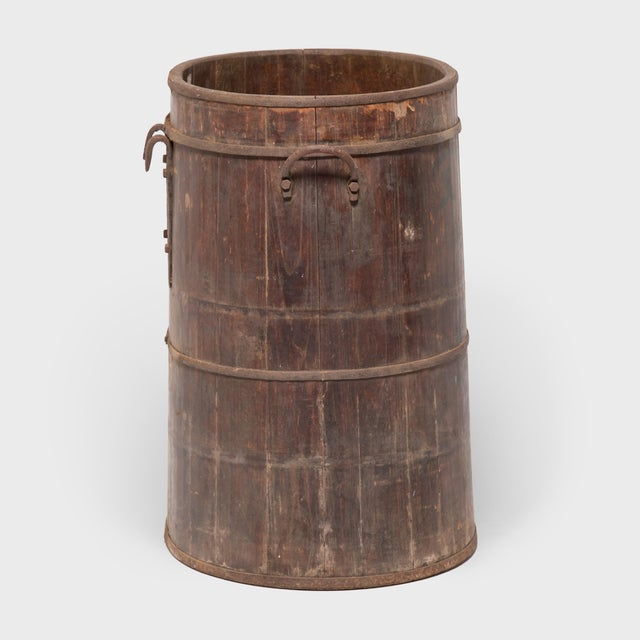 Provincial Chinese Water Barrel For Sale - Image 4 of 8