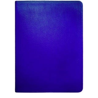 Large Flexible Cover Journal, Calfskin Book in Blue For Sale