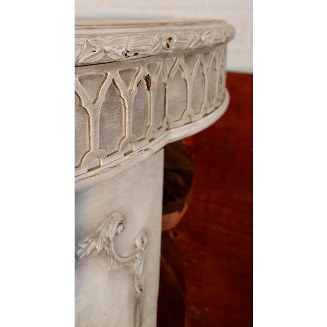 French Rococo Gray Mahogany Demi-Lune Commode - Image 8 of 9