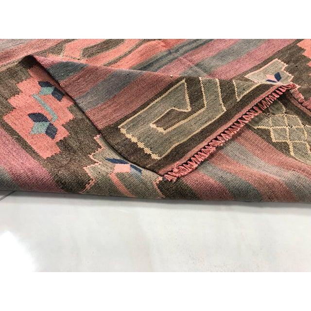 Rug & Kilim Turkish Tribal Handmade Kilim Rug - 4′ × 8′1″ For Sale - Image 4 of 11