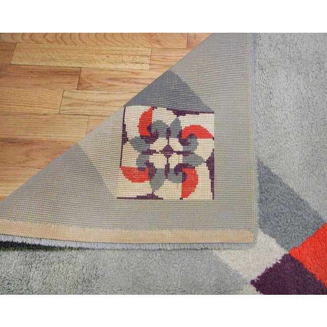 Vintage French Art Deco Carpet by Pierre Cardin - 6′9″ × 9′2″ For Sale - Image 9 of 10