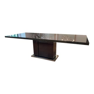 Contemporary Dark Gray Dining Table For Sale
