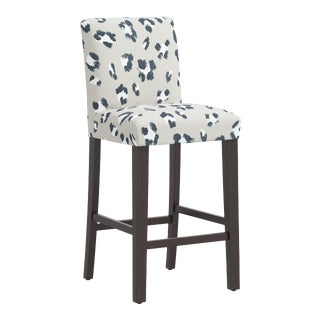 Bar stool in Brush Cheetah Ivory For Sale
