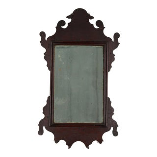 18th Century Chippendale Rare Miniature Looking Glass Mirror For Sale