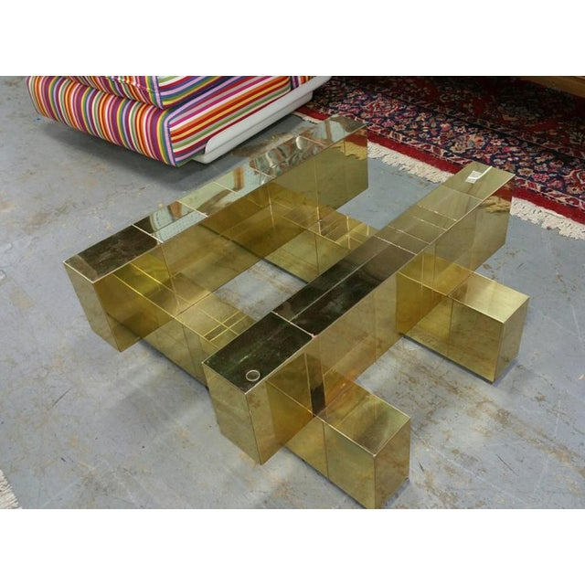 """Paul Evans Brass """"Cityscape"""" Coffee Table - Signed - Image 5 of 7"""