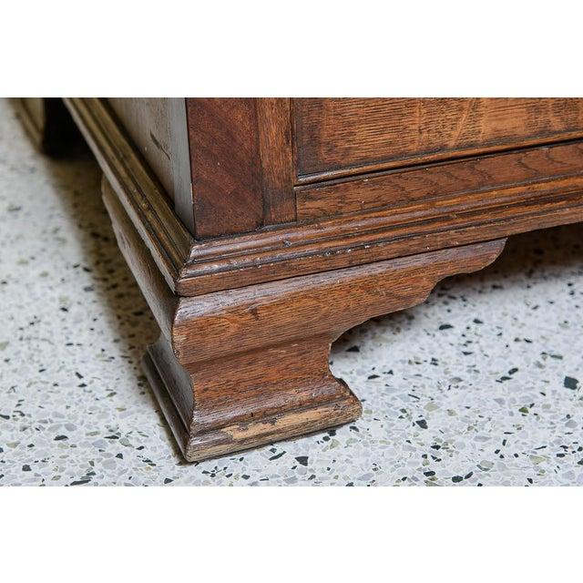Wood Antique Mid 19th Century Oak Slant Front Desk For Sale - Image 7 of 10