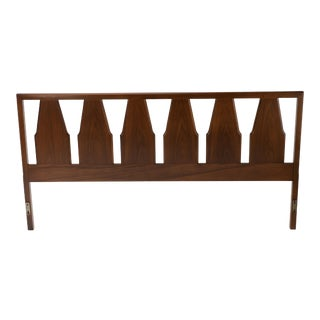 1960s Mid-Century Walnut King Headboard Drexel For Sale