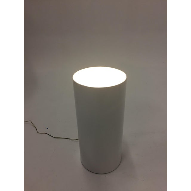 Fiberglass and Lucite Electrified Pedestal For Sale - Image 4 of 9