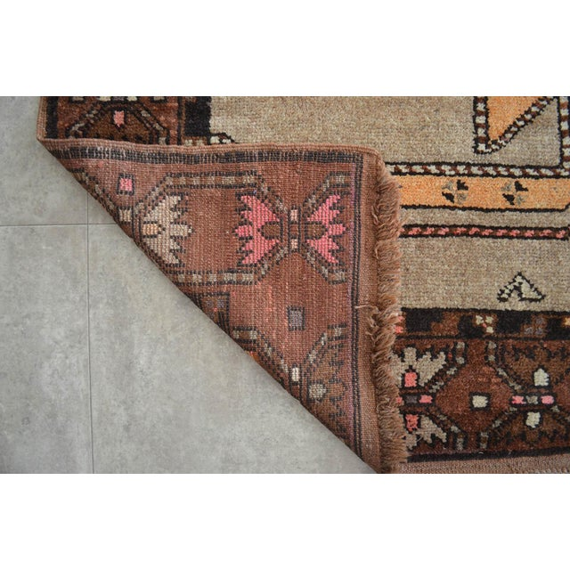 6x11 Kilim Rug Kurdish Runner Hand Knotted Full Tribal Design Area Rug - 6′3″ X 11′4″ For Sale In New York - Image 6 of 7