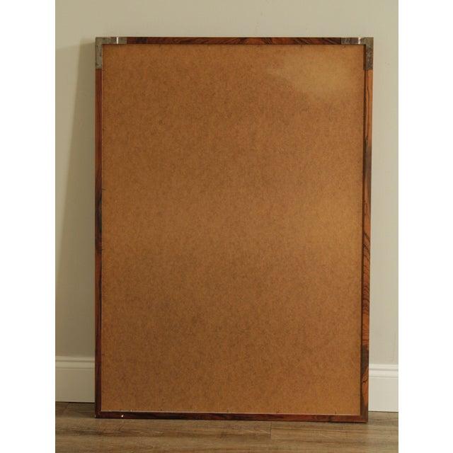 Danish Modern Mid Century Rosewood Rectangular Wall Mirror For Sale - Image 11 of 13