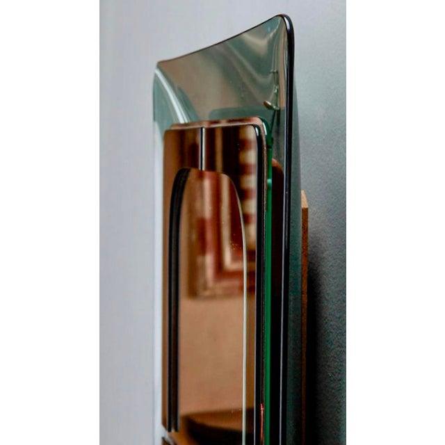 Italian Mid Century Fontana D'Arte Green Frame Wall Mirror - Image 4 of 6