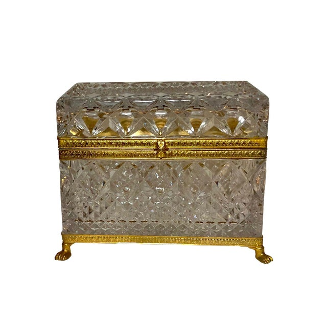 Mid-Century French Large Crystal Box For Sale - Image 10 of 10