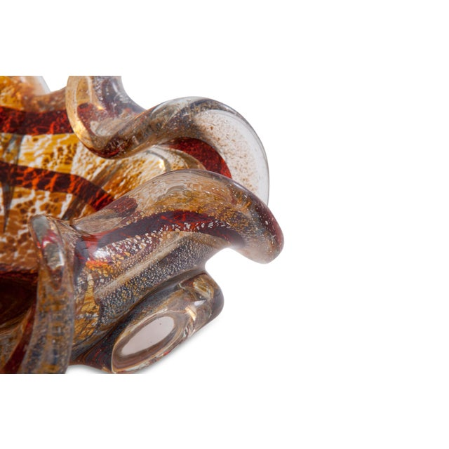 Contemporary Tortoise Shell Murano Glass Dish For Sale - Image 3 of 6