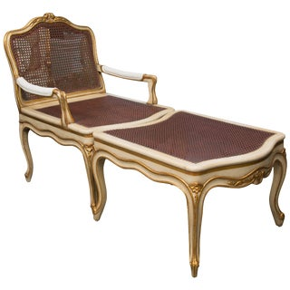 Louis XV Style Cream and Parcel Gilt Duchess Brisee - 2 Pc. Set For Sale