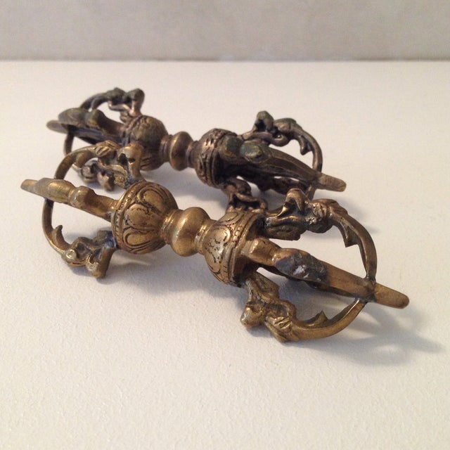 Brass Cambodian Decor - A Pair - Image 2 of 5