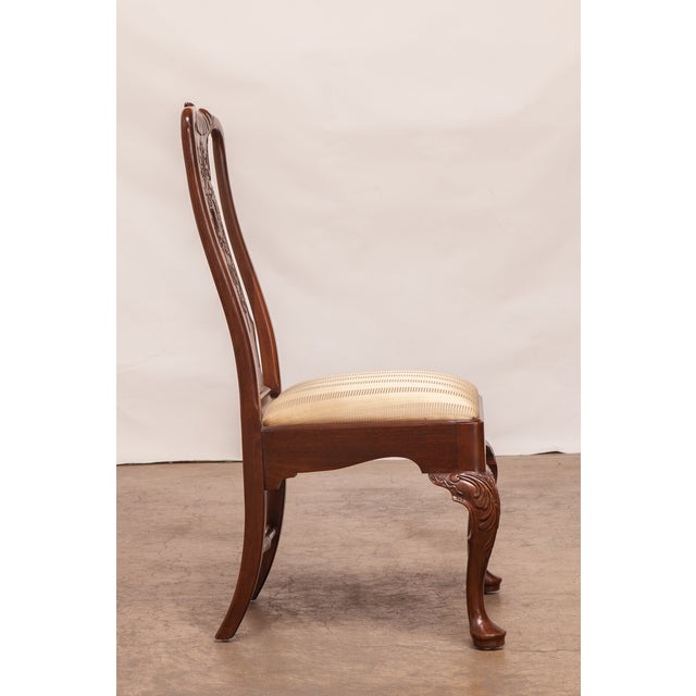 Carved Mahogany Georgian Style Dining Chairs - 12 - Image 4 of 10