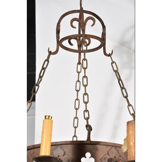 Circa 1900 Round Antique Iron Chandelier From France Preview
