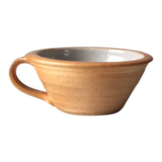 Vintage Studio Pottery Wide Mouth Mug For Sale