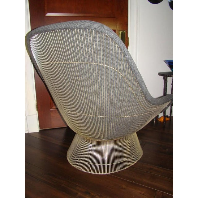 Silver Knoll Warren Platner Throne Chair & Ottoman Lounge For Sale - Image 8 of 10