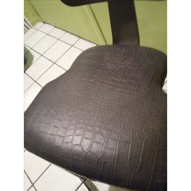 Herman Miller Style Faux Alligator Chairs - A Pair - Image 6 of 7