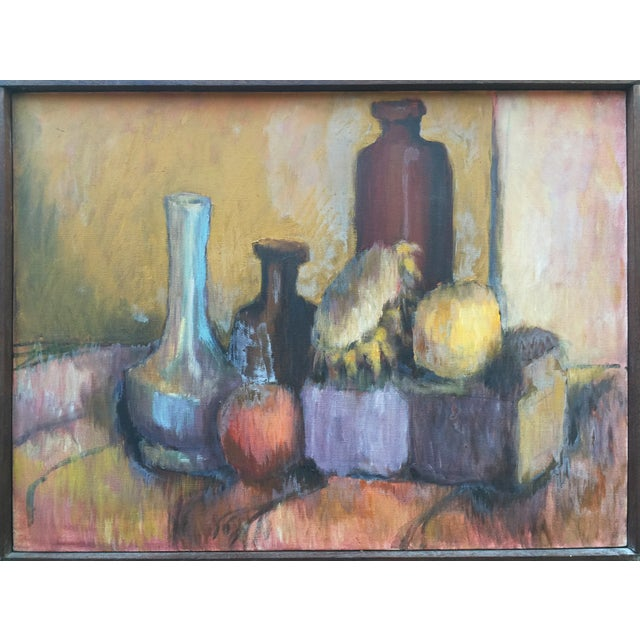 Mid-Century Still Life Painting by Joan Adams For Sale