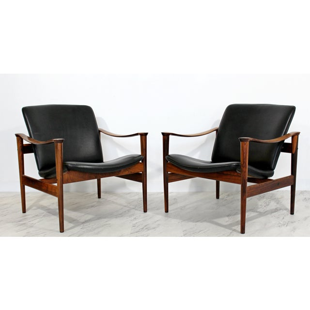Mid Century Modern Pair Model 711 Easy Chairs Fredrik Kayser Vatne Mobler 1960s For Sale - Image 11 of 11