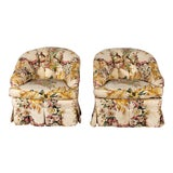 Image of Vintage Club Chairs- a Pair For Sale