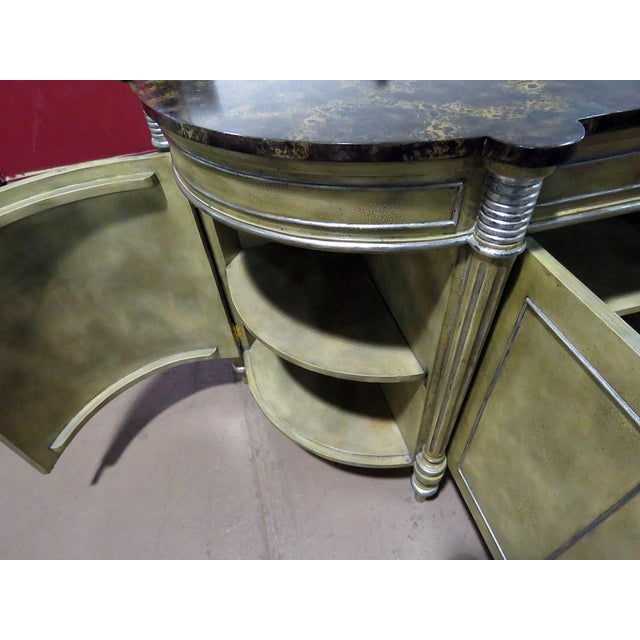 Maitland Smith Faux Marble Top Commode For Sale - Image 12 of 13