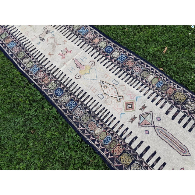 This is a vintage Turkish rug from the 1970s. Handwoven with high quality pure wool.