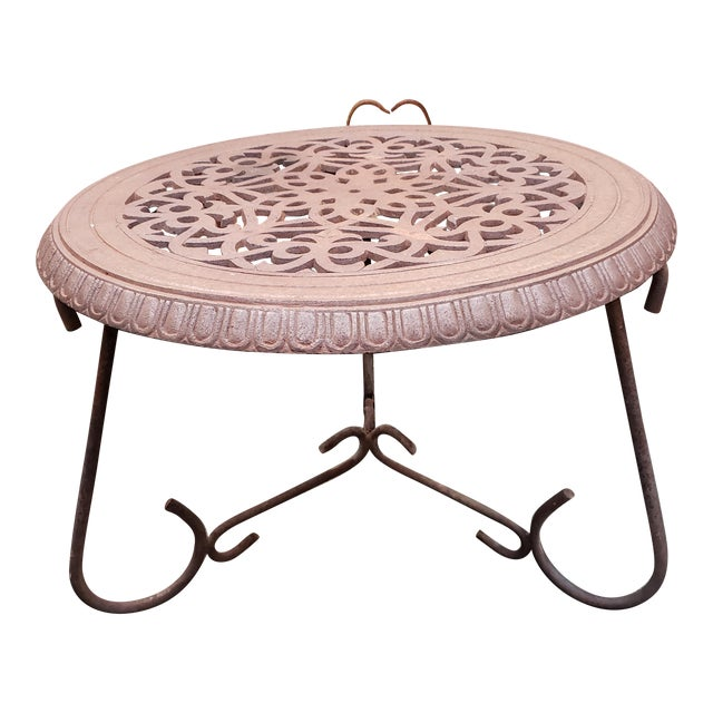 Late 19th Century American Victorian Cast Iron Floor Register Grate Top Table For Sale