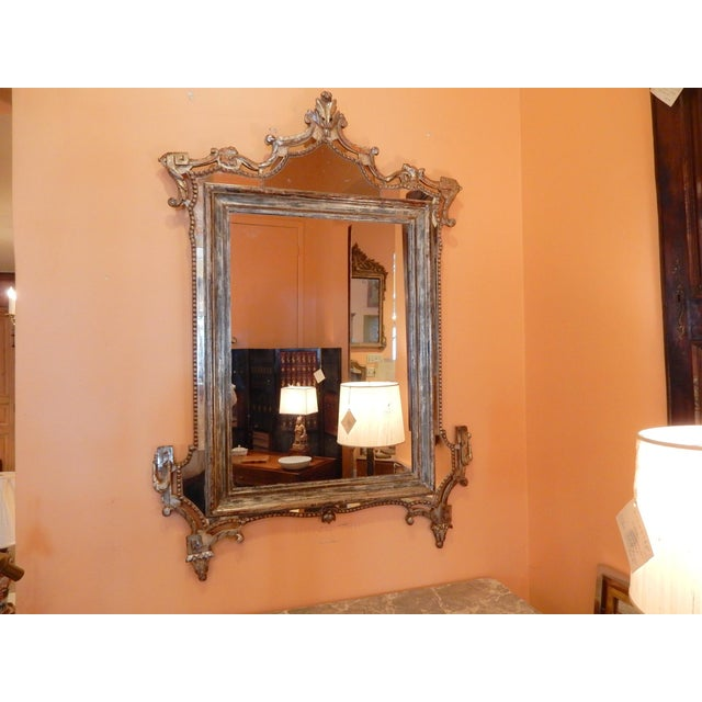 Directoire' Worn Silver Gilt Mirror For Sale - Image 10 of 10