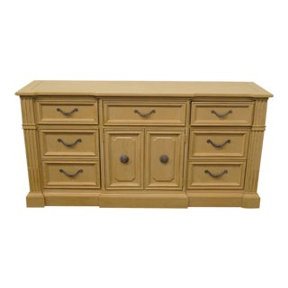 20th Century Traditional Stanley Furniture European Heritage Blonde Triple Door Dresser For Sale
