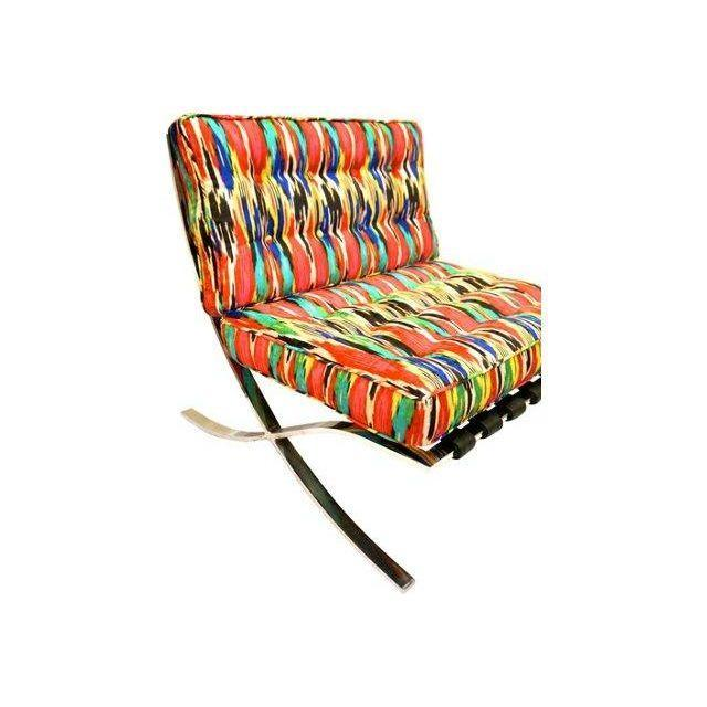 Mid-Century Modern Barcelona Style Chairs - Pair - Image 7 of 7