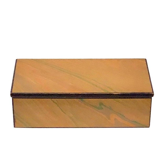 Signed mid century signed by the artist, Alessandro Albrizzi box made and out of paper and wood. Italy, late 1950's.