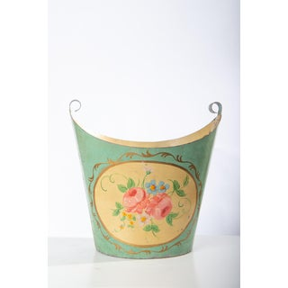 Floral Painted Tole Container Preview