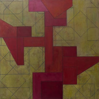 Modern Series Abstract Geometric Oil Painting by Stephen Cimini For Sale