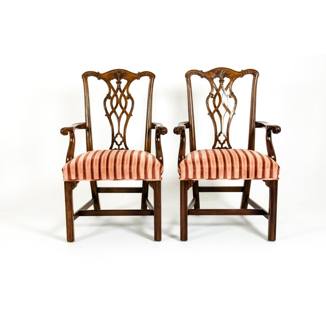 Georgian George III Style Mahogany Dining Chairs - Set of 8 For Sale - Image 3 of 13