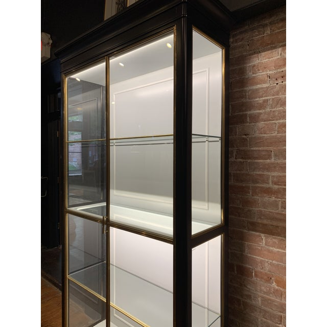 Modern Fenwick Etagere Lighted Cabinet For Sale - Image 3 of 12