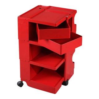 """1970s Joe Colombo """"Boby"""" Red Storage Trolley"""