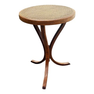 Vintage Thonet Bentwood Cane Top Stand/Stool For Sale