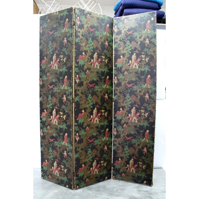 Antique Chinoiserie Folding Floor Screen - Image 2 of 8