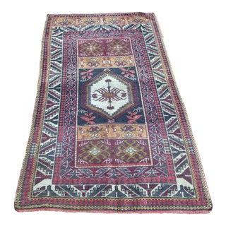 Turkish Anatolian Oushak Muted Colors Vintage Rug - 3′3″ × 5′7″