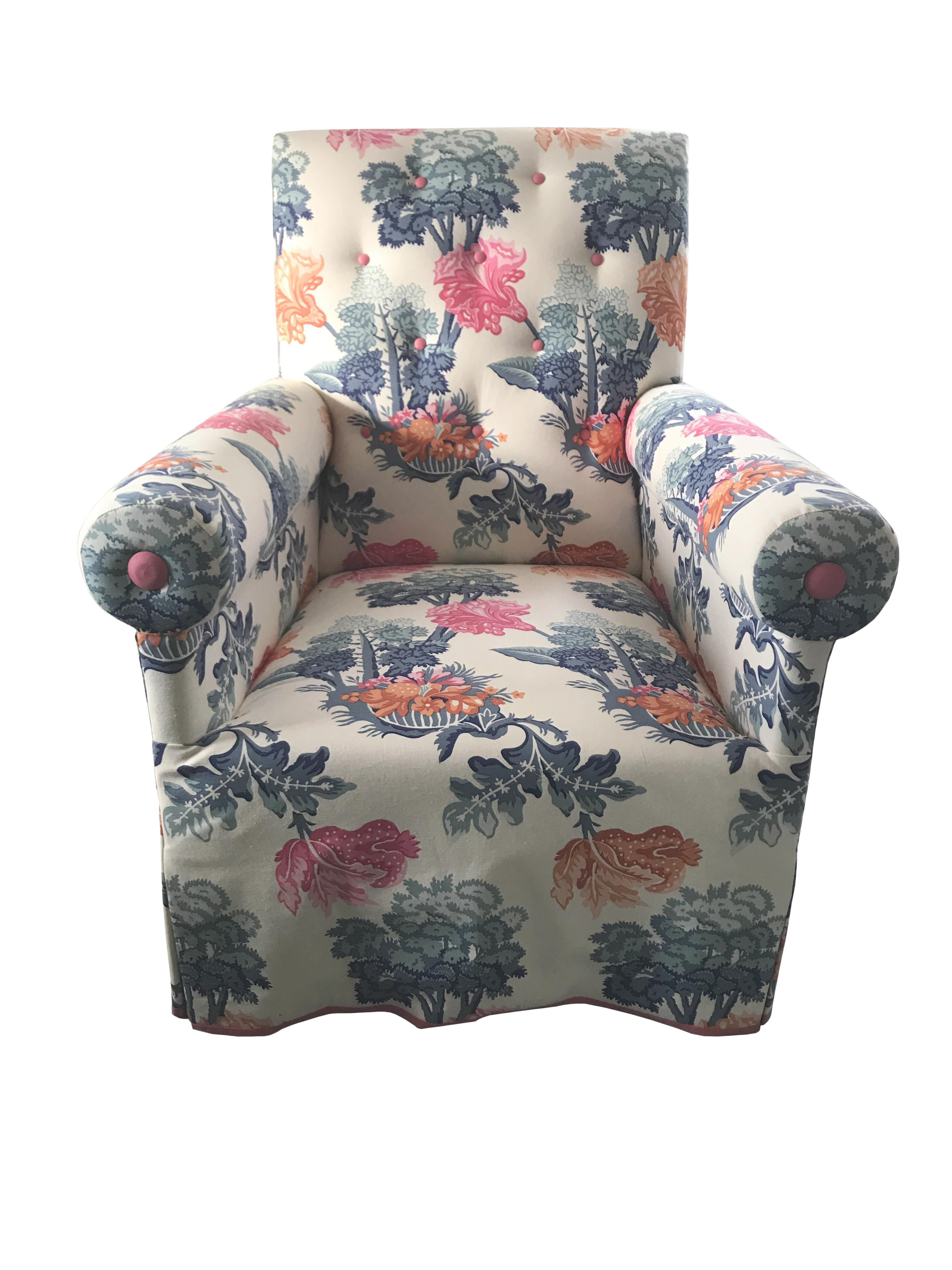Jon Stefanidis Floral Fabric Skirted Armchair  sc 1 st  Chairish & Vintage u0026 Used Floral Accent Chairs for Sale | Chairish