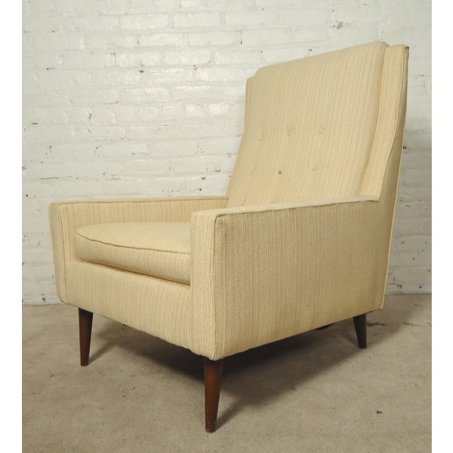 Textile Mid-Century Paul McCobb Style Lounge Chair For Sale - Image 7 of 7