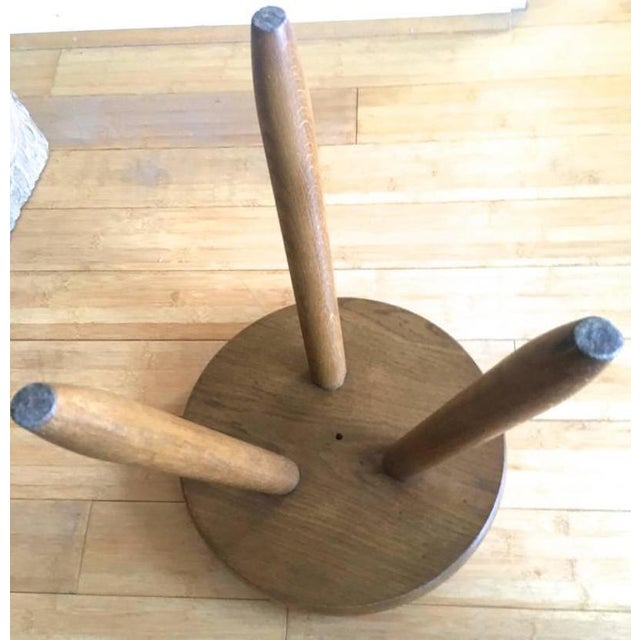 Charlotte Perriand Charlotte Perriand 1950s High Tripod Ash Tree Stool in Vintage Condition For Sale - Image 4 of 8